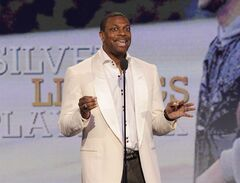 FILE - This Feb. 23, 2013 file photo shows actor Chris Tucker speaking onstage at the Independent Spirit Awards in Santa Monica, Calif. announced Tuesday, April 16, that the comedian-actor will host the show June 30 from the Nokia Theater in Los Angeles. Tucker is riding high off of his supportive role in the Oscar-nominated film
