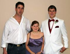 Greg Welch (left) and his children Jayda and Jordan were injured in the fire.