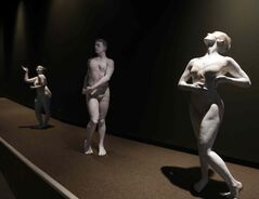 WAG announced an exhibition celebrating the Greco-Roman Collections of Berlin and used live monuments, dancers from Contemporary Dancers, to illustrate the announcement.