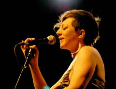 Gretchen Parlato (above) made every  word count  in her unique, wistful style  during her performance at the jazz festival.