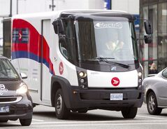 A Canada Post truck makes deliveries in Vancouver on September 21, 2012. THE CANADIAN PRESS/Jonathan Hayward