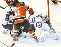 Winnipeg goaltender Ondrej Pavelec has steadied his wobbling game. He'll likely be in net when the Jets take on the Devils and Adam Henrique tonight at the MTS Centre.