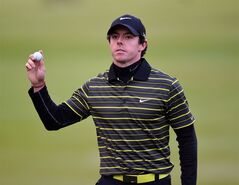 Northern Ireland's Rory McIlroy completes his round during day three of the BMW PGA Championships at the Wentworth Club, Virginia Water England Saturday May 24, 2014.(AP Photo/PA, Adam Davy) UNITED KINGDOM OUT NO SALES NO ARCHIVE