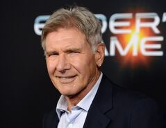 FILE - This Oct. 28, 2013 file photo shows actor Harrison Ford at the LA Premiere of