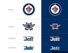 The Jets' new marks and wordmarks.