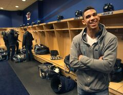 Evander Kane has plenty of reasons to smile after signing a long-term deal with the Jets. Now, if he could only get on the ice...