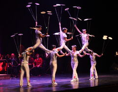 The Peking Acrobats perform Let the Spinning Plates Spin at the concert hall Friday with the Winnipeg Symphony Orchestra.