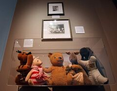 Characters from the Winnie-the-Pooh stories made from patterns printed by McCall's in 1965 on display in the new Pooh Gallery at the Pavilion Gallery Museum in the Assiniboine Park.