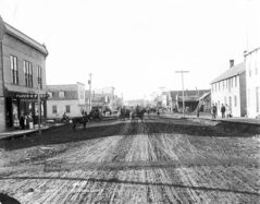 View of Jasper Avenue in downtown Edmonton in 1895.