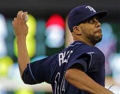 Tampa Bay Rays pitcher David Price throws against the Minnesota Twins in the eighth inning of a baseball game Saturday, July 19, 2014, in Minneapolis. Price gave up four hits in eight innings as the Rays won 5-1.. (AP Photo/Jim Mone)
