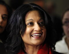 Liberal leader Rana Bokhari on budget day at the legislature in March.