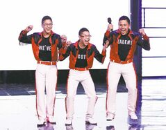 Sagkeeng's Finest (from left) Dallas Courchene, Brandon Courchene and Vince O'Laney win Canada's Got Talent.