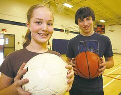 Ken Gigliotti / Winnipeg Free Press Eva Rodrigues and Jack Osiowy didn't want equipment made by child workers.