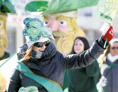 Katie Fowler was among the marchers. (Ruth Bonneville / Winnipeg Free Press)