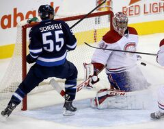 Mark Scheifele had a number opportunities but couldn't put the biscuit in the basket against the Montreal Canadiens.