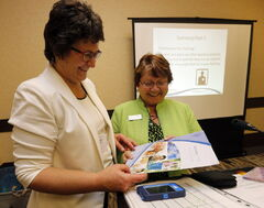 Instructors Joyce Klassen (right) and Patti Chegwin offer insights into the care of people living with dementia.