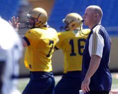 Coach  Paul LaPolice at Winnipeg Blue Bomber camp at Canad Inns Stadium on June 3.