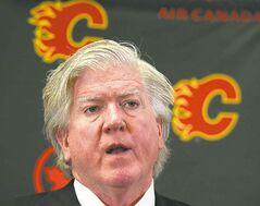 Brian Burke, Calgary's president of hockey operations, wants to hire a new GM soon.