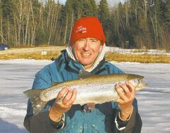 Ice-fishing conditions have not been the greatest, but Don Lamont is still finding some success.