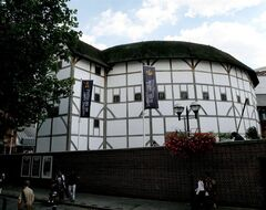 FILE - An Aug. 1, 2007, photo from files showing a general view of The Globe Theatre, central London. Shakespeare's Globe theater is about to take the Bard's words literally —