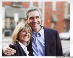 Zsuzsanna Zhohar and Michael Ignatieff: She takes the chilly edge off him.