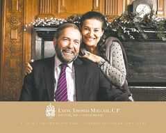 Greetings from federal NDP Leader Thomas Mulcair and his wife, Catherine.