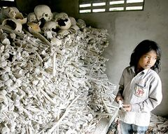 Heng Sinith / The Associated Press Archives One of many shrines to the millions of victims of the Khmer Rouge.