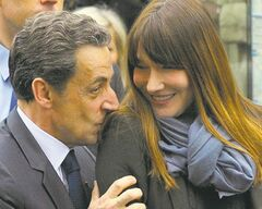 Former French president Nicolas Sarkozy and wife, Carla Bruni-Sarkozy