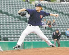 The Winnipeg Goldeyes' new southpaw acquisition, Ryan Bollinger, uses a variety of pitches to baffle hitters.