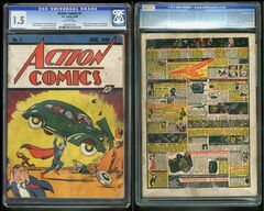 In this image provided by Metropolis Collectibles/ComicConnect, Corp., shows the front and back cover of