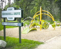 Shorehill Drive Park is designed for young families while maintaining the natural habitat