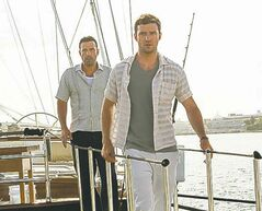 Soft boys, soft boys whatcha gonna do...:  Affleck, left, and Justin Timberlake in the thrill-less thriller Runner Runner.