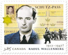 Canada Post stamp commemorates Swedish-born Raoul Wallenberg.