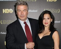 FILE - In this Oct. 24, 2013 file photo, producer and actor Alec Baldwin and wife Hilaria Baldwin attend the HBO premiere of
