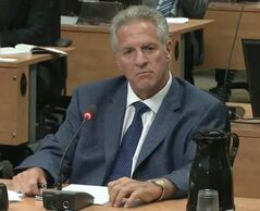 Tony Accurso testifies before the Charbonneau Commission on Tuesday September 2, 2014 in a frame grab from the video feed. THE CANADIAN PRESS/HO, Charbonneau Commission