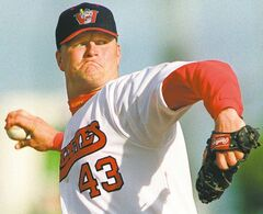 KEN GIGLIOTTI \ WINNIPEG FREE PRESS  file pic of Goldeye pitcher Rick Forney \kg june 21 2000