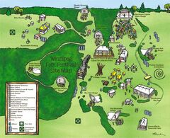 Map outlines the new layout of the folk festival site, which includes two new daytime stages.