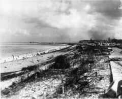 Photo of the beach after the raid on Dieppe, taken by German personnel.