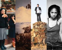 A composite of the four photos named to the Aimia AGO Photography Prize short list. Left to right: Chino Otsuka's
