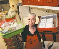 Detour feature on businesses with names that sound like superheroes... Christine Fisher is the Lunch Lady with lunches for school students.  ( Dave Sanderson story (WAYNE GLOWACKI/ WINNIPEG FREE PRESS) WINNIPEG FREE PRESS  March 1 2013