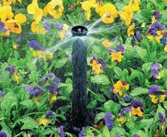 Moisture needs to be delivered directly to the plant's root system in order for the plant to thrive. Flower beds can be dense areas. A drip irrigation system delivers moisture directly to where it is needed.