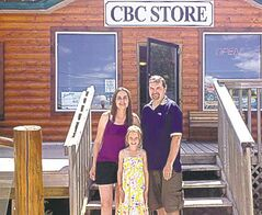 Shaun and Jeanette Harbottle with daughter, Bree, at Hawk Estates.