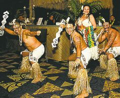 Easter Island dancers performed at a Habitat for Humanity fundraiser.