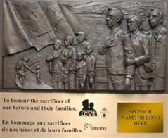 A mock-up of a Highway of Heroes plaque is shown in a photo released on is shown in a handout photo, released on Wednesday March 6, 2013. THE CANADIAN PRESS/HO, Toronto Police