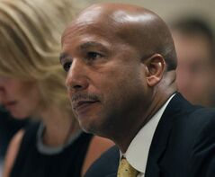 Former New Orleans mayor Ray Nagin is introduced at Disaster Management Conference Wednesday at Canad Inns Polo Park.