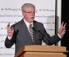 Premier Greg Selinger delivers his state-of-the-province address on Dec. 11.
