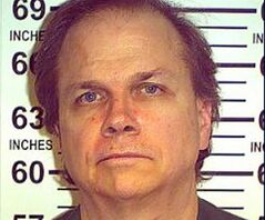 This May 15, 2012 photo provided by the New York State Department of Corrections shows Mark David Chapman at the Wende Correctional Facility in Alden, N.Y. Chapman, John Lennon's imprisoned killer, says he still gets letters about the pain he has caused. Chapman was denied release during his eighth appearance before a parole board in August 2014, according to the transcript released by New York state corrections officials, on Wednesday, Aug. 27, 2014. (AP Photo/New York State Department of Corrections, File)