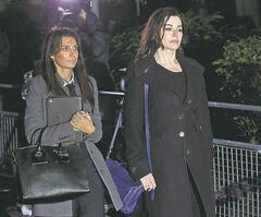 Lawson (right) leaves Isleworth Crown Court in London, Thursday.