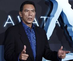 File-This Dec. 16,2009 file photo of Wes Studi arrives at the premiere of