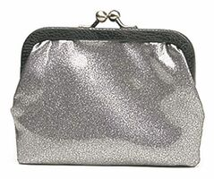 A cute clutch adds a subtle sense of sparkle.